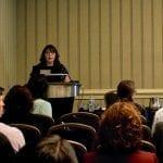 Emma Harnett presenting