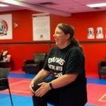RSI's Emma Hartnett practicing martial arts