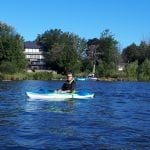 Franco, kayaking on the Rideau River