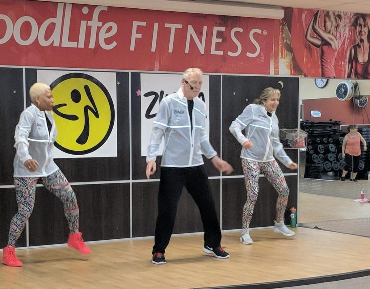 Teaching Zumba with Co-instructors Sharon and Iryna
