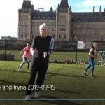 RSI's Daniel Krewski happily teaching Zumba in front of the Canadian Parliament in Ottawa