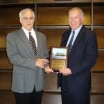 RSI's Daniel Krewski receiving American Industrial Health Council Visiting Scholar Award at the Hamner Institutes for Health Research