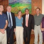 RSI's Daniel Krewski with Nobel Laureate and President of Costa Rica, Mr. Oscar Arias (centre right) during Prion Disease Training Workshop
