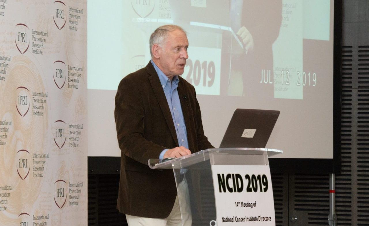 RSI's Daniel Krewski giving presentation at NCID 2019