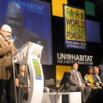 RSI's Cemil Alyanak introducing the World Urban Campaign during the World Urban Forum in Rio de Janeiro