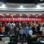 With Students in Risk Assessment Training Seminar in Beijing
